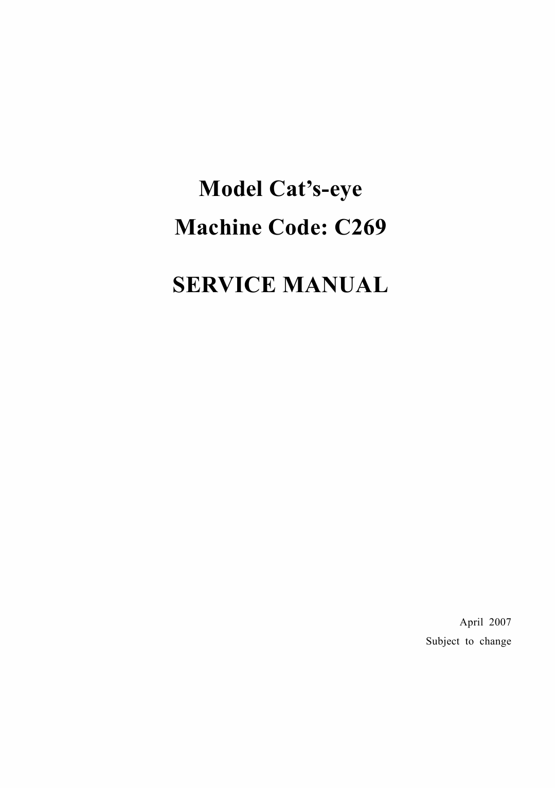 RICOH Aficio DX-4640PD C269 Service Manual-1